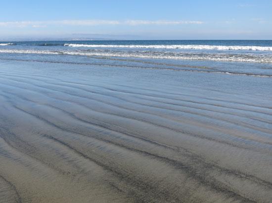 Designs in the sand, Coronado Beach